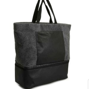 NWT DSW felt tote bag with shoe compartment